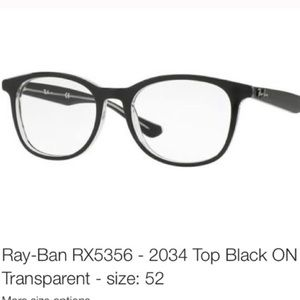 Ray-Ban Glasses RX5356-2034 Top Black. Size 52
